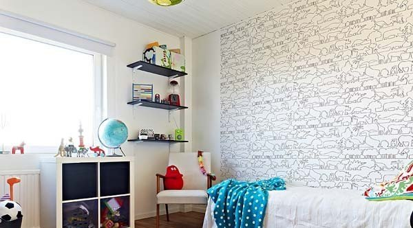 Стены в детской комнате цвет роспись оформление