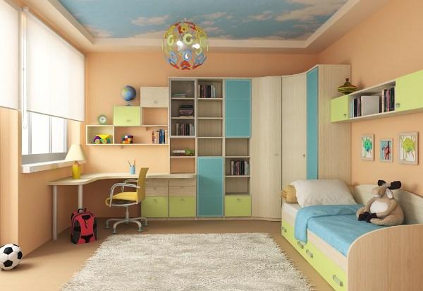 бежевый для спокойного дизайна интерьера детской