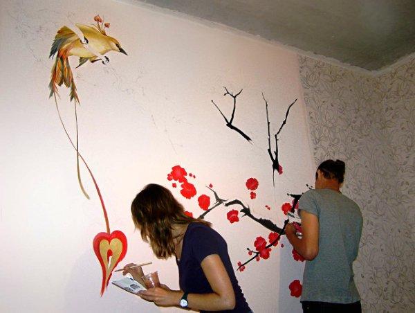 Фото: рисуем сакуру своими руками