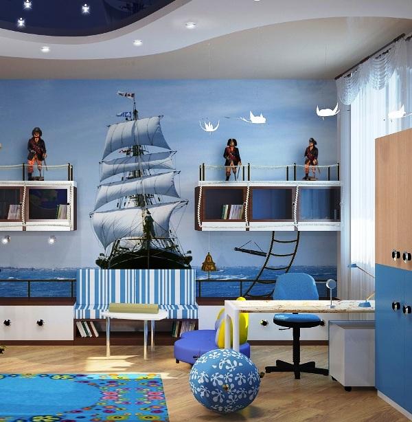 Детская в морском стиле фото для мальчиков 191