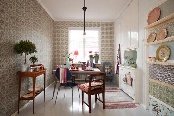 Устойчивость рисунка - важное качество для стен кухни