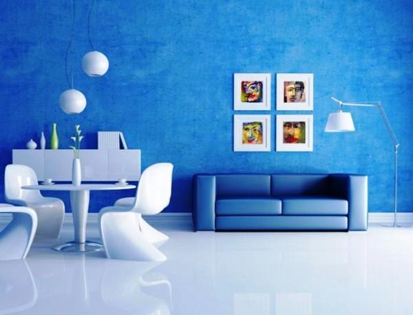 Голубой цвет относится к спокойным тонам