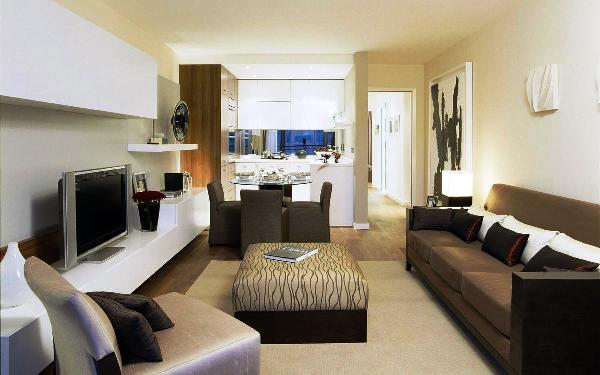 Фото: баланс цветов при сочетании контрастных тонов мебели и обоев