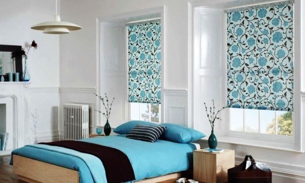 Голубой цвет идеально подходит для спокойного ненавязчивого дизайна