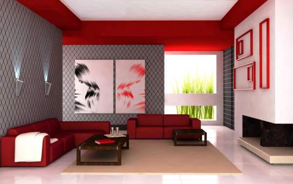 При выборе необходимо учитывать не только цвет стен, но и расположение будущих предметов декора, таких, как фотографии и картины