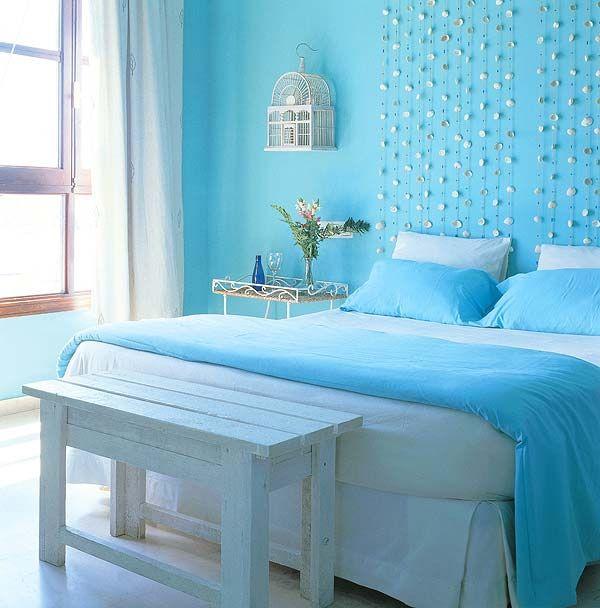 модные обои для спальни 2015 голубые