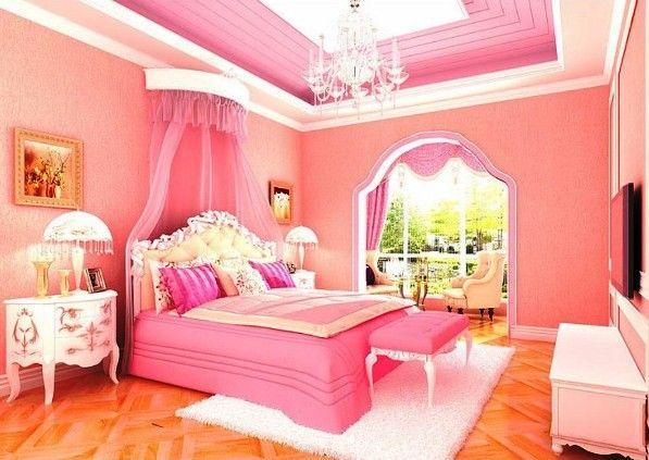 модные обои для спальни 2015 розовые с белым
