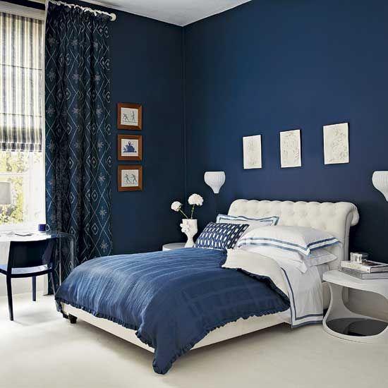 модные обои для спальни 2015 синие