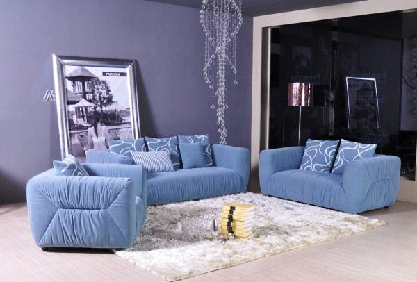модные обои для зала 2015 комбинированные голубые фиреневые картины