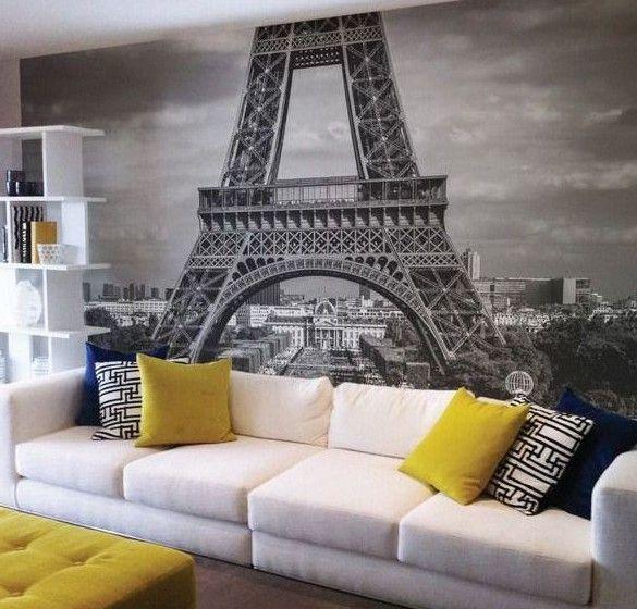 модные обои фотообои для зала 2015 Париж