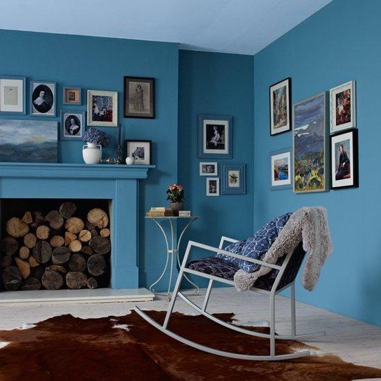 модные обои модные 2015 фотообои для зала голубые с картинками
