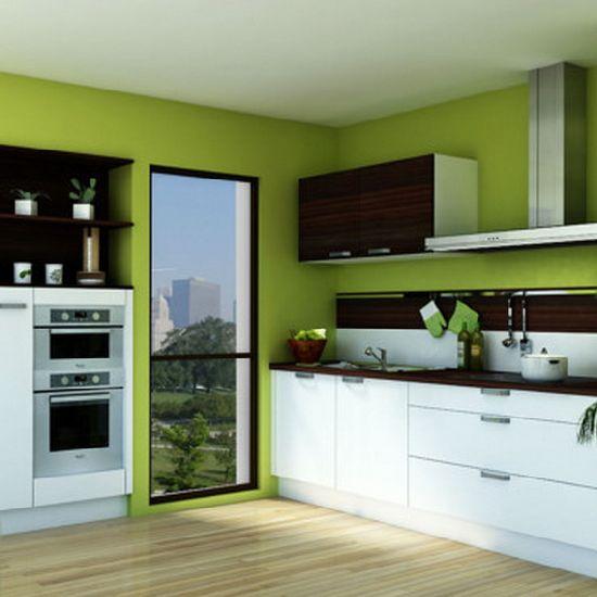 Цвет напольного покрытия также должен гармонировать с основным оттенком стен