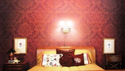 обои интерьер спальни