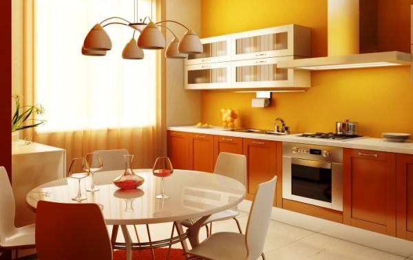 подбор цвета обоев на кухню