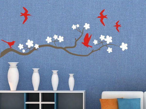 сакура на стене как сделать своими руками