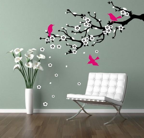 сакура на стене своими руками нарисовать