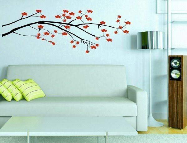сакура на стене цветы