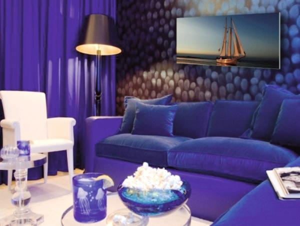 Синий цвет интерьера 2015