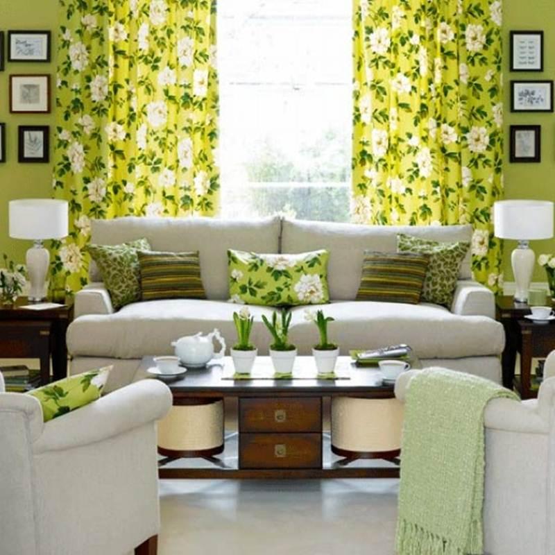 выбор цвета обоев для маленькой гостиной