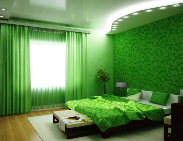 Фото: яркие и насыщенные стены сделают Вас более активными и поднимут настроение