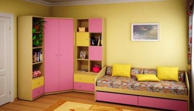 желтые обои для детской комнаты девочки