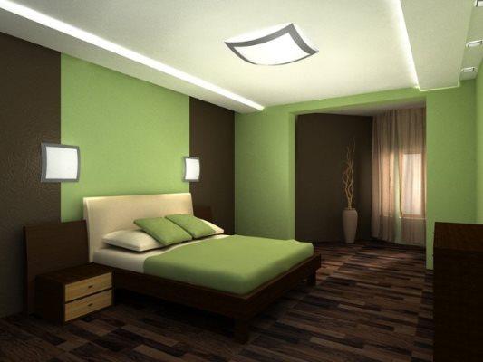 Спальня со светло-зеленым: релаксирующий дизайн