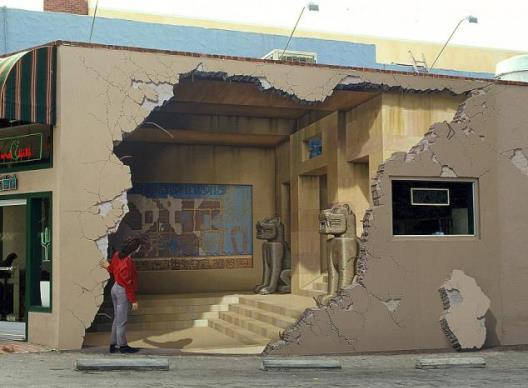 3d изображения на уличных стенах