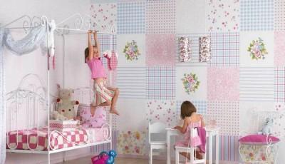 Сочетание обоев в детской комнате разных
