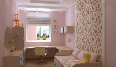 Сочетание обоев в детской комнате с рисунками