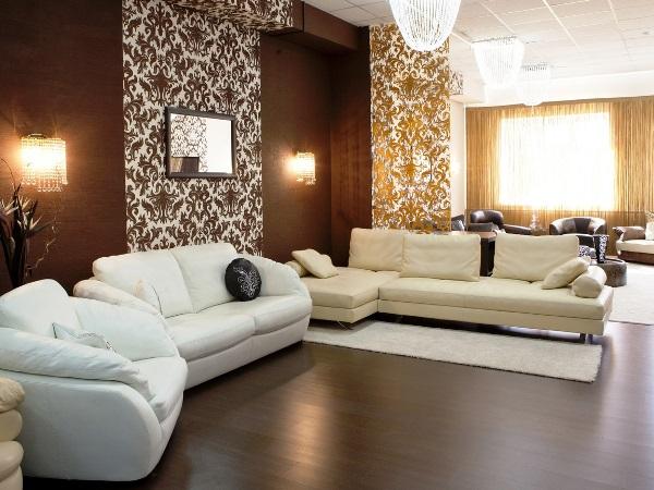 Интерьер роскошной и душевной гостиной