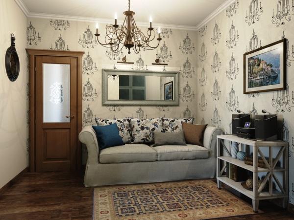 Фото: удачный пример помещения в стиле прованс