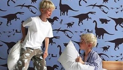 детские обои с динозаврами