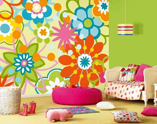 Оригинальное сочетание с цветочными рисунками порадует Вашего малыша