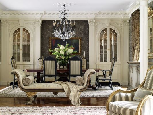 Торжество и шик в гостиной кремового цвета
