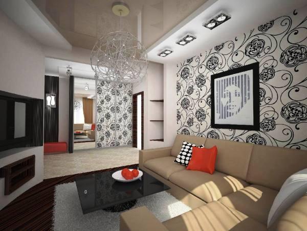 Рисунки и узоры на стенах, а также использование аксессуаров контрастных цветов способны значительно улучшить внешний вид