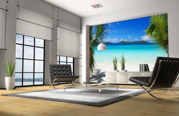 Фото: экзотические изображения привнесут в Ваш интерьер атмосферу тепла и отдыха на райском острове