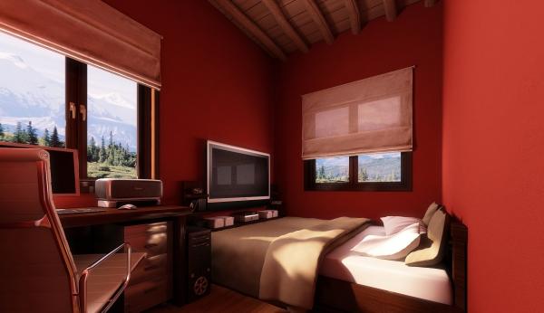 Привлекательное решение интерьера спальни