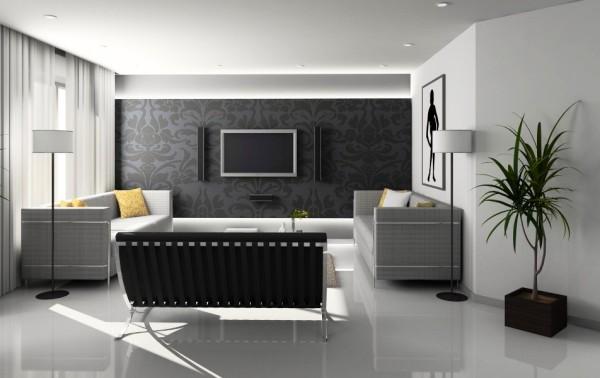 Удачный пример оформления комбинированных стен