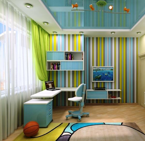 Живой и интересный интерьер для активного ребенка