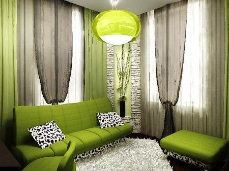 Фото: пример того, как правильно подобрать шторы