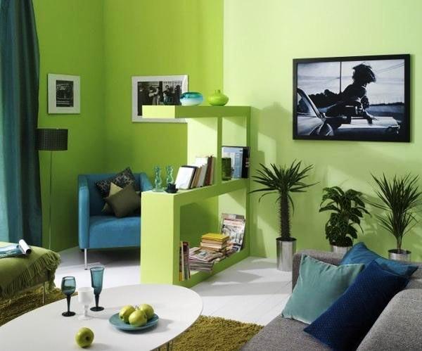 Фото: прекрасное сочетание зеленого с синим