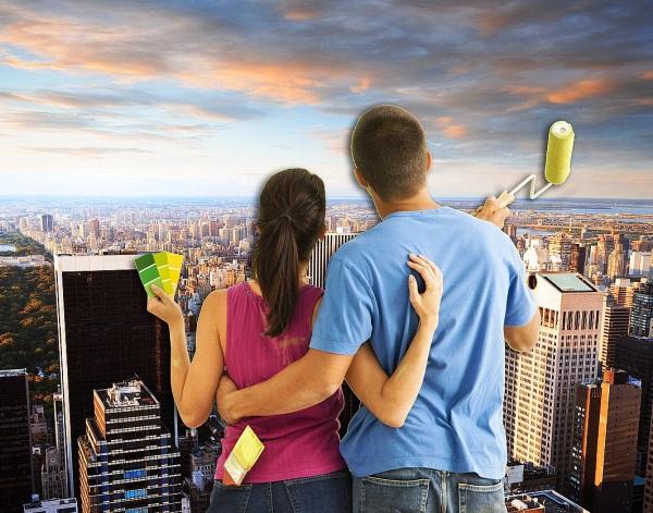 Фото: изображения городов являются одним из модных и популярных решений