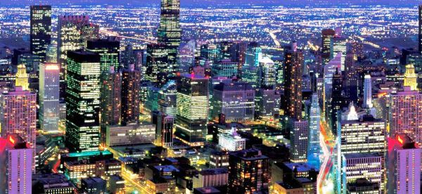 Фото: изображения городов - один из наиболее популярных сюжетов для объемных фотообоев