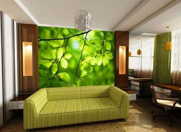 Фотообои - отличный вариант, который как нельзя лучше подходит для оригинального оформления стен зала
