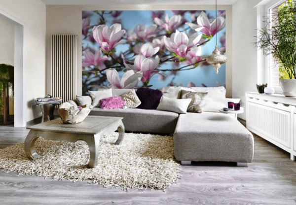 Красивые цветочные варианты как нельзя лучше подойдут для интерьера спокойных помещений