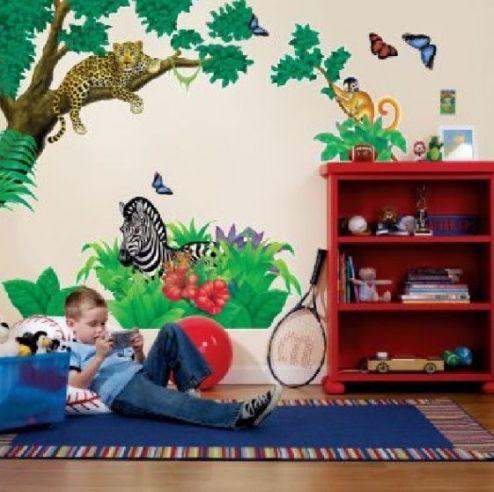 модные обои для детской комнаты 2015 рисунки животные