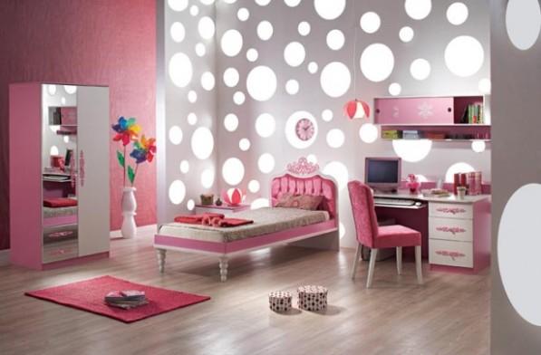 модные обои для детской комнаты 2015 розовые комбинированные