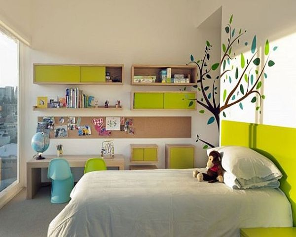 модные обои для детской комнаты 2015 с деревом