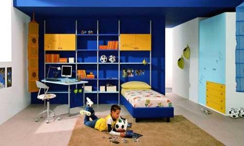 модные обои для детской комнаты 2015 синие голубые сочетание