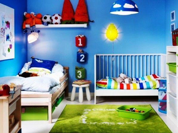 модные обои для детской комнаты 2015 синие